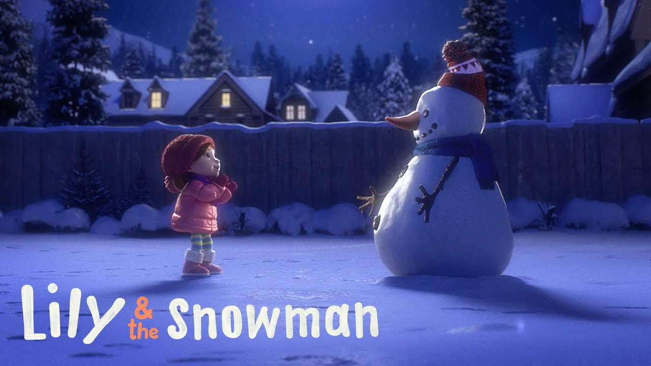 Lily & the Snowman kerstcommercials 2015