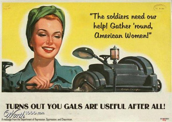 Oude advertentie: Turns out you gals are useful after all!