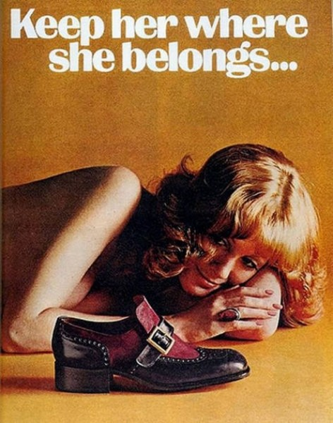 Oude advertentie: Keep her where she belongs